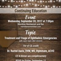 Veterinary CE Event – September 20, 2017